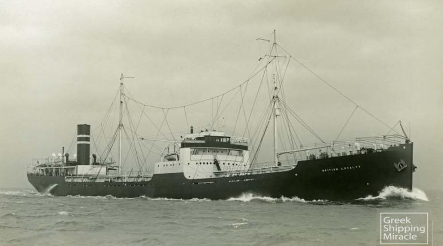 The Birtish Loyalty ship submerged in Addu City, Maldives.