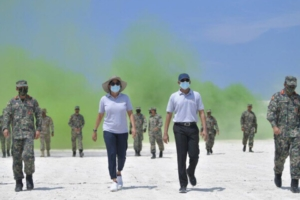 President Solih and Minister of Defense, Uza