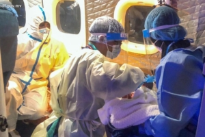 newborn baby transferred to Male from Addu City