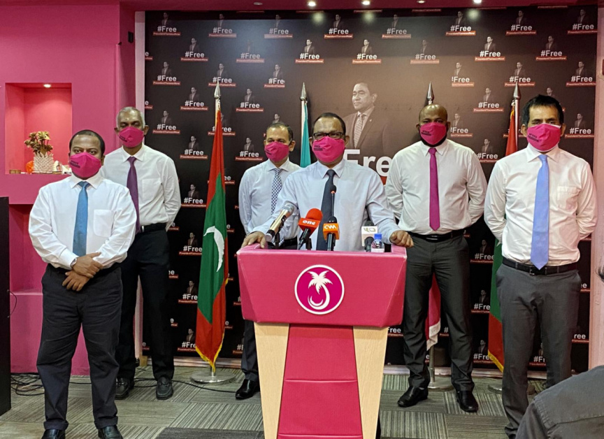 Senior officials of PPM/PNC opposition coalition